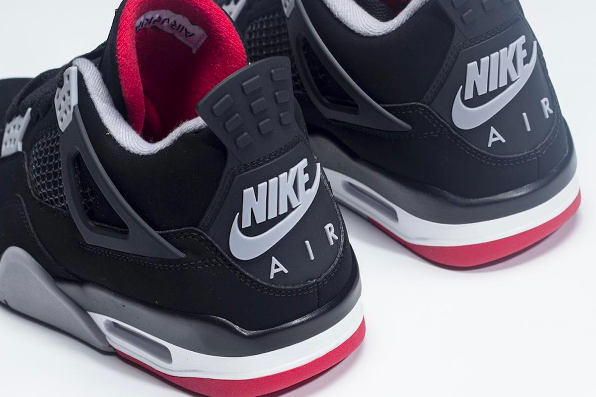 """newest 471b2 ef991 Jordan Brand is celebrating 30 years of the Air Jordan 4 with the esteemed  pair s return in """"Bred."""" Graced in its OG color combination of black, ..."""