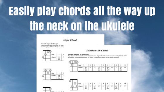 Play Ukulele Now: Easily play chords all the way up the neck on the