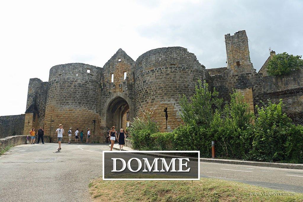 La bastida de Domme, un bello balcón a la Dordoña