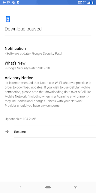 Nokia 7 Plus receiving October 2019 Android Security update