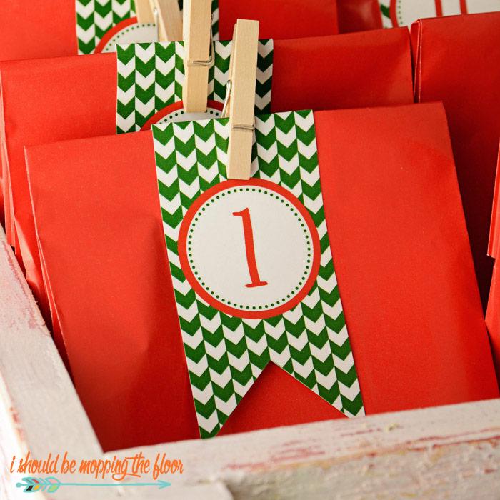 Christmas Countdown Bags