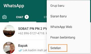 WhatsApp Agar tidak Terlihat Online
