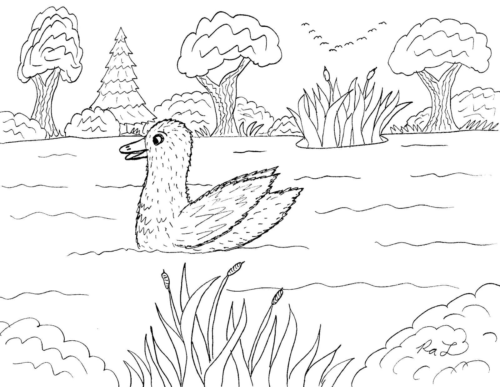 Robin S Great Coloring Pages The Ugly Duckling