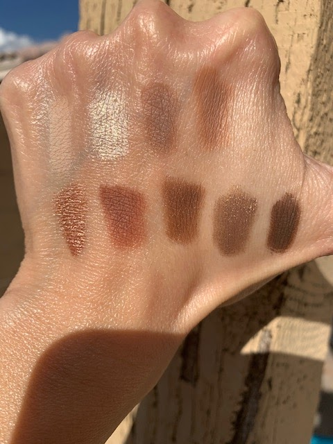 Colourpop Going Coconuts Palette Swatches