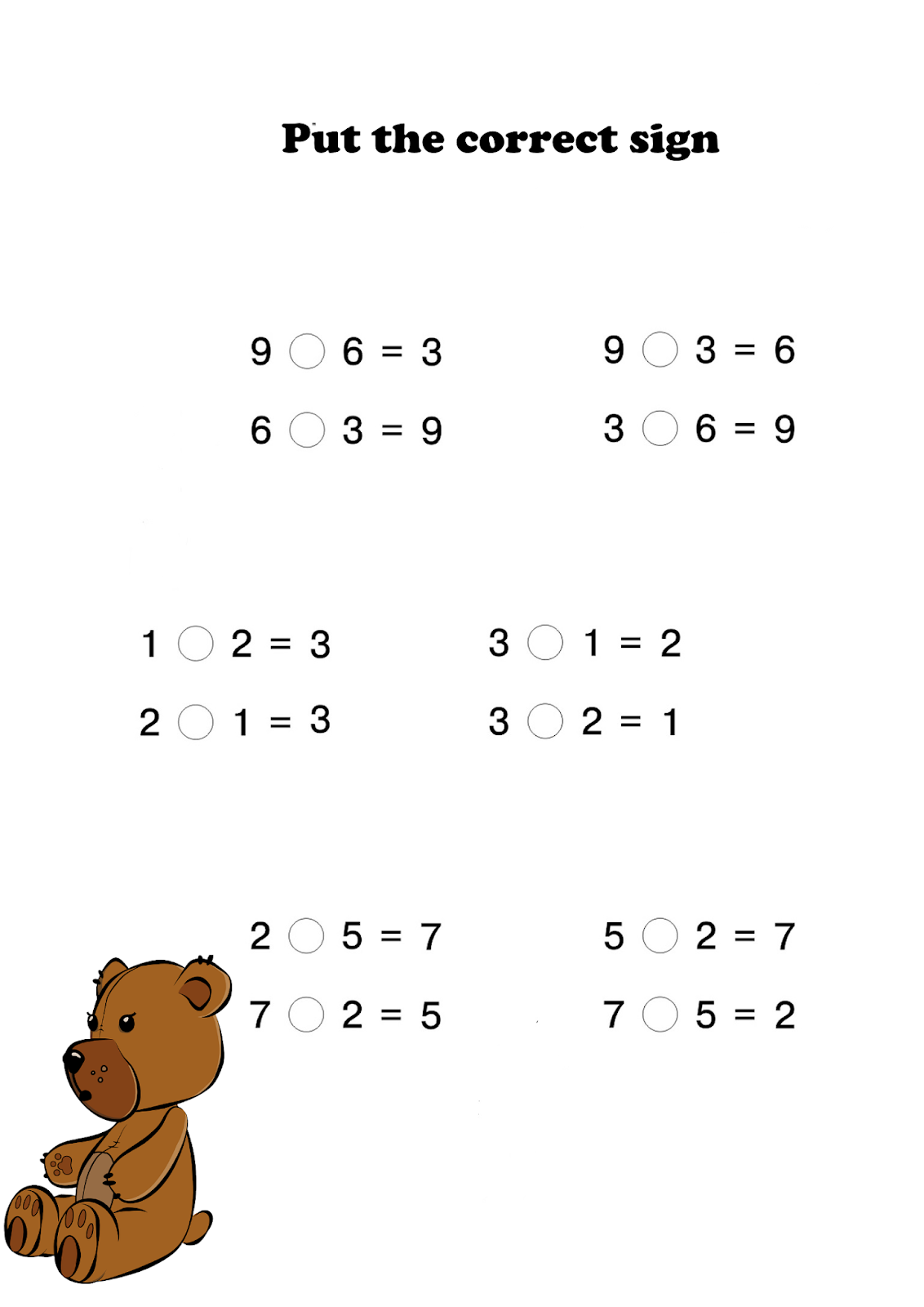 Early Education 1st Grade Addition And Subtraction Free