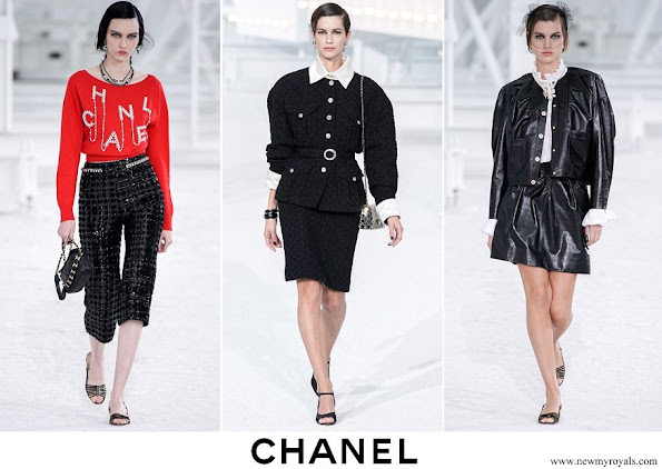 Charlotte Casiraghi wore outfits from Chanel Spring-Summer 2021 Ready-to-Wear collection