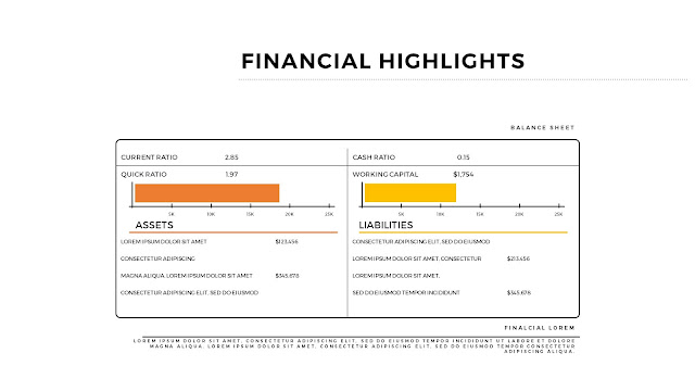 Financial Highlights And Infographic Elements in Free PowerPoint Template Slide 1