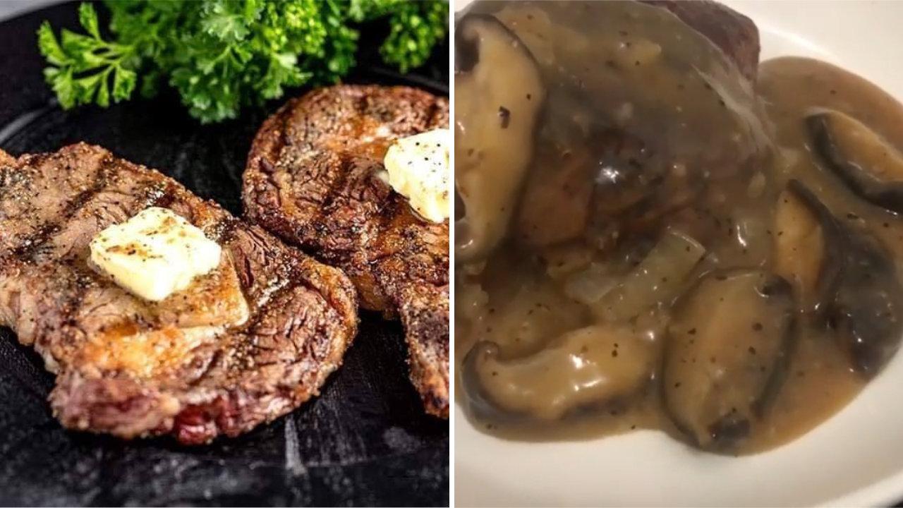 resepi steak dan sos cendawan