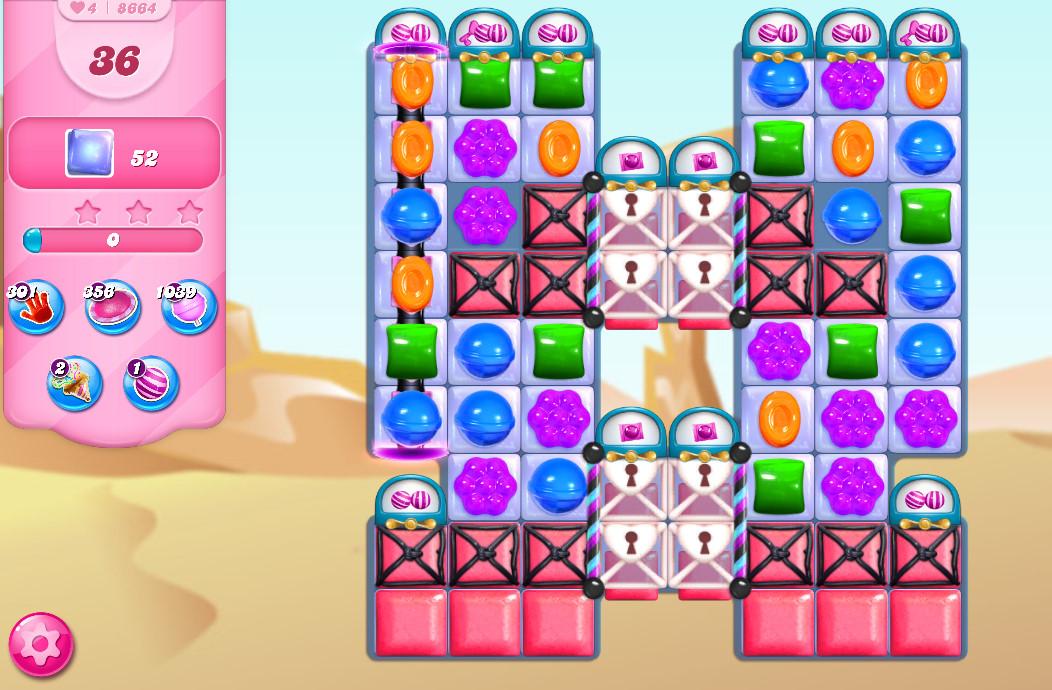 Candy Crush Saga level 8664