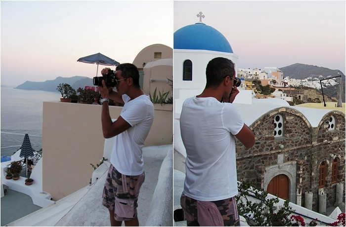 Santorini holiday photographing