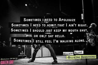 Green Day Lyrics - Walking Alone