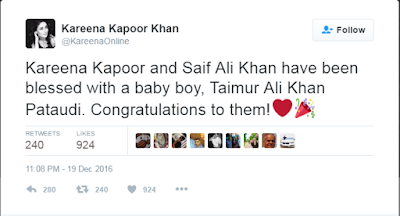 Kareena Kapoor Khan, Saif Ali Khan blessed with a baby boy