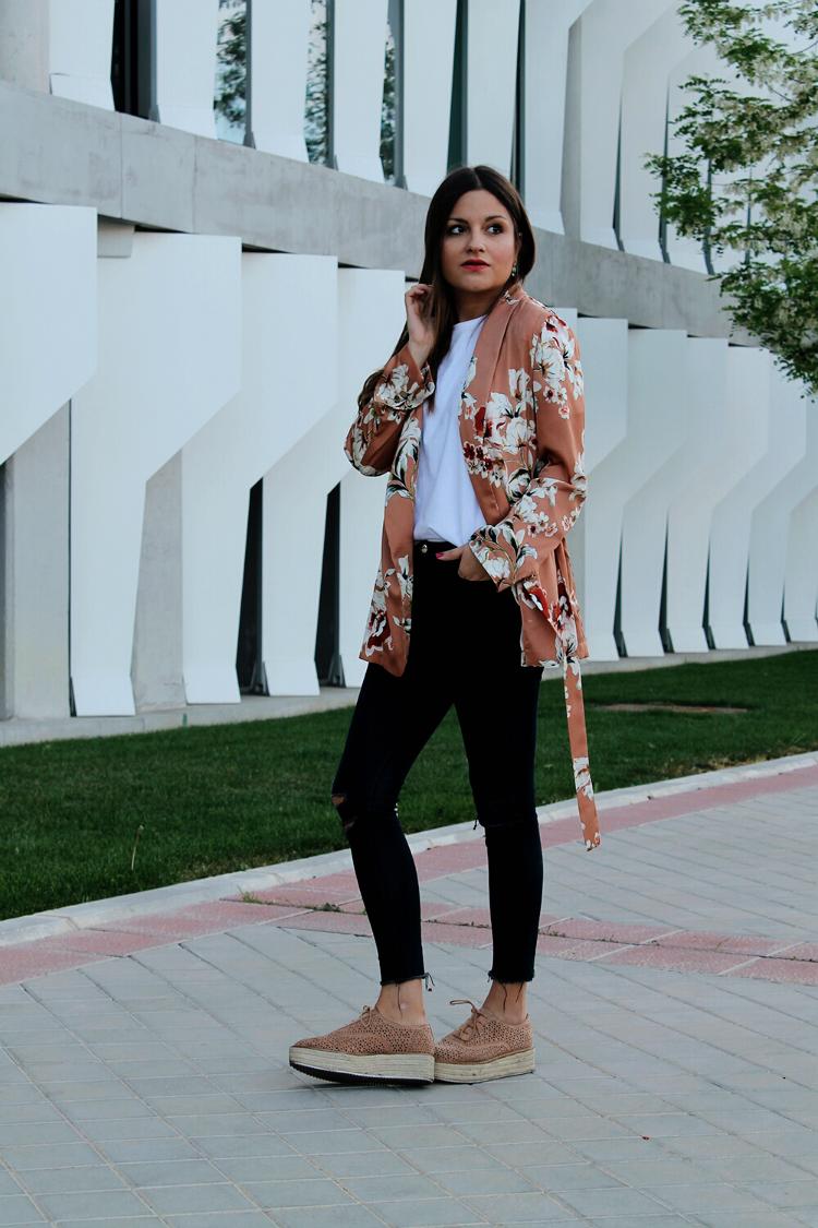 blog de moda outfit con kimono de zara