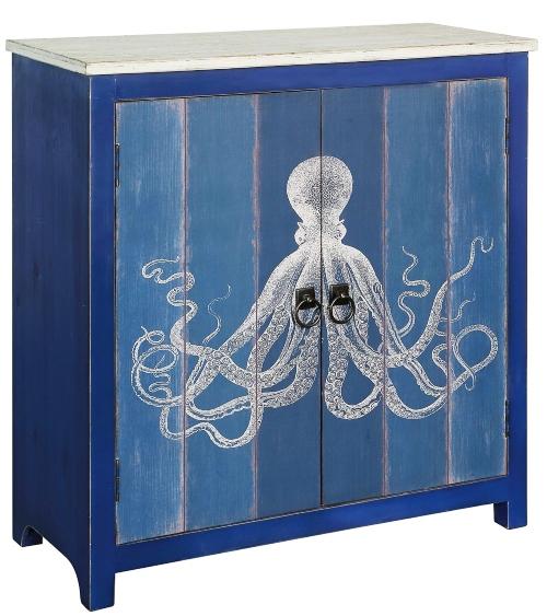 Blue Octopus Cabinet