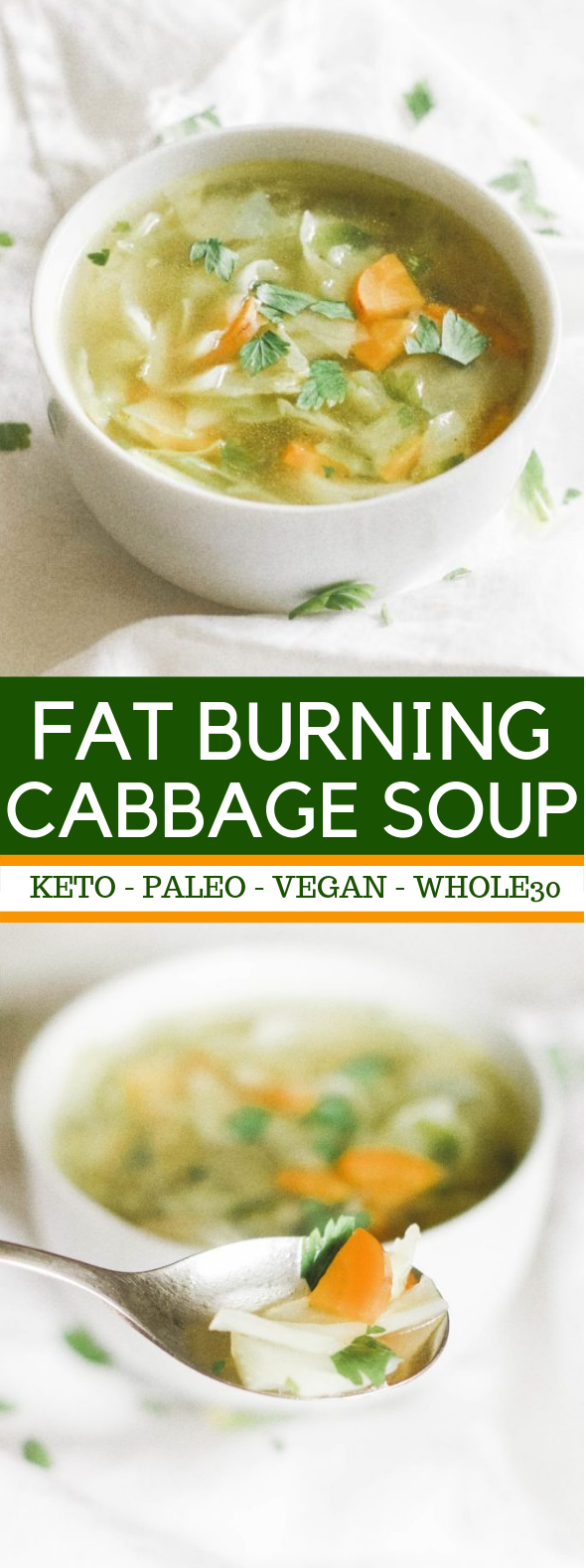 Fat Burning Cabbage Soup #keto #paleo