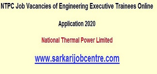 Recruitment in NTPC 100 Posts Online Form 2020