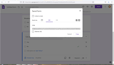 You can directly share the link with peers