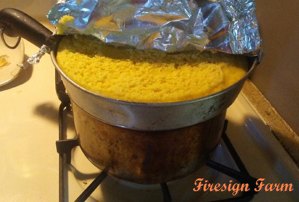 Firesign Farm: Steamed Corn Pudding