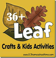 36 Leaf Crafts & Kids Activities #fallcraftsforkids #kidsactivities #preschool