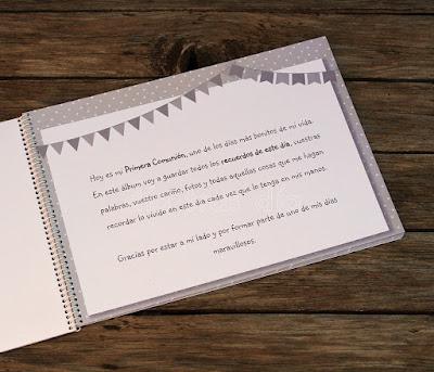 Libro de firmas Primera Comunión personalizado