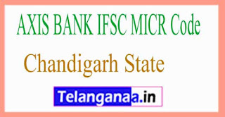 AXIS BANK IFSC MICR Code Chandigarh State