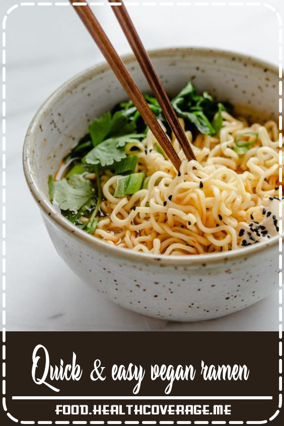This ramen soup is perfect for a cozy night in and comes together in less than 30 minutes!