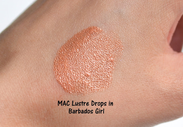 MAC Future MAC Lustre Drops Barbados Girl Swatch