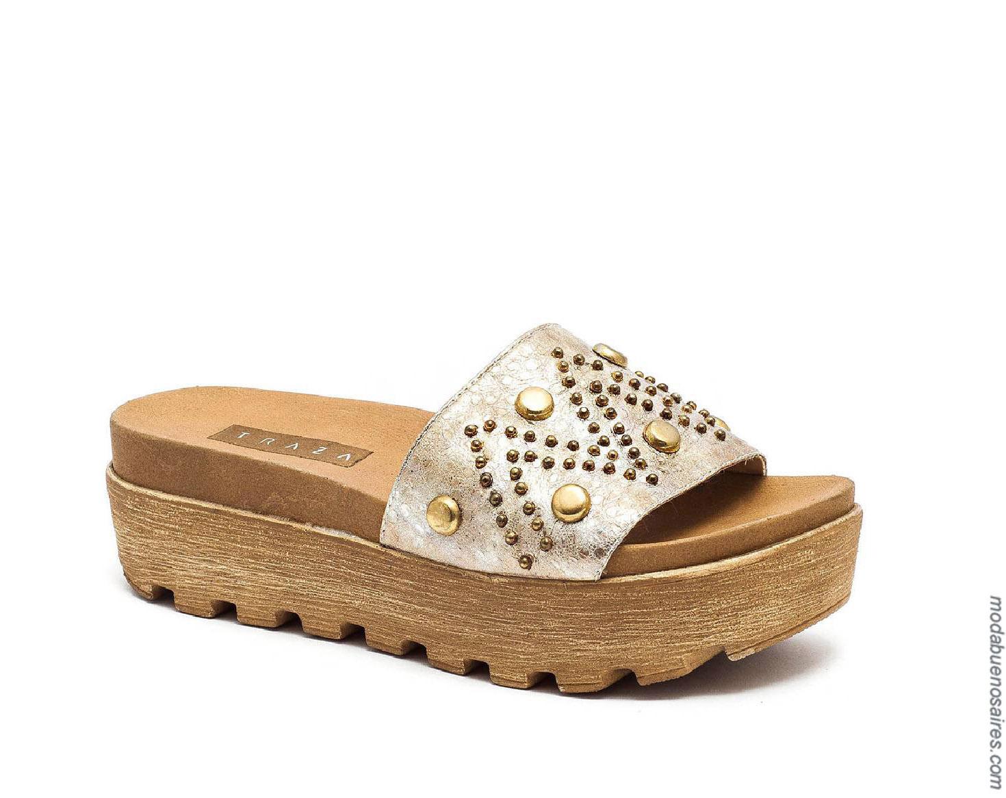 Sandalias primavera verano 2020 moda mujer.