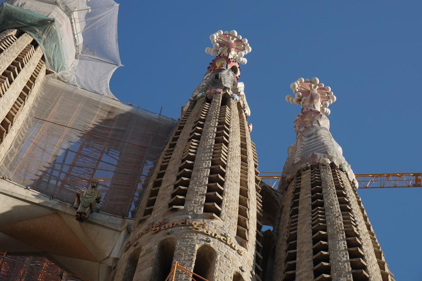 サグラダ・ファミリア (Sagrada Familia) 「イエス・キリスト」と塔の飾り