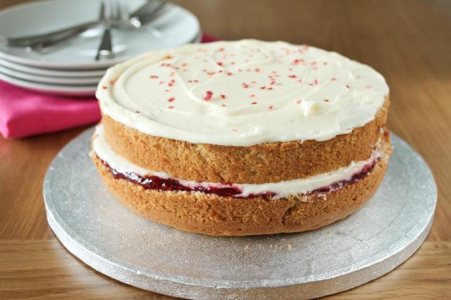 Vegan Jelly Cake Recipe: Maple•spice: Raspberry White Chocolate Mousse Cake