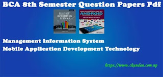 BCA 8th Semester Question Papers Pdf