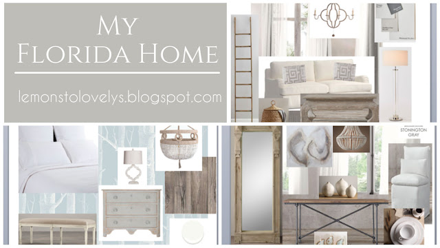 My Florida Home Mood Board .  Sources and more on www.lemonstolovelys.blogspot.com