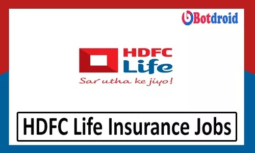 HDFC Life Insurance Recruitment 2021, Apply Online for Jobs in HDFC Life Career