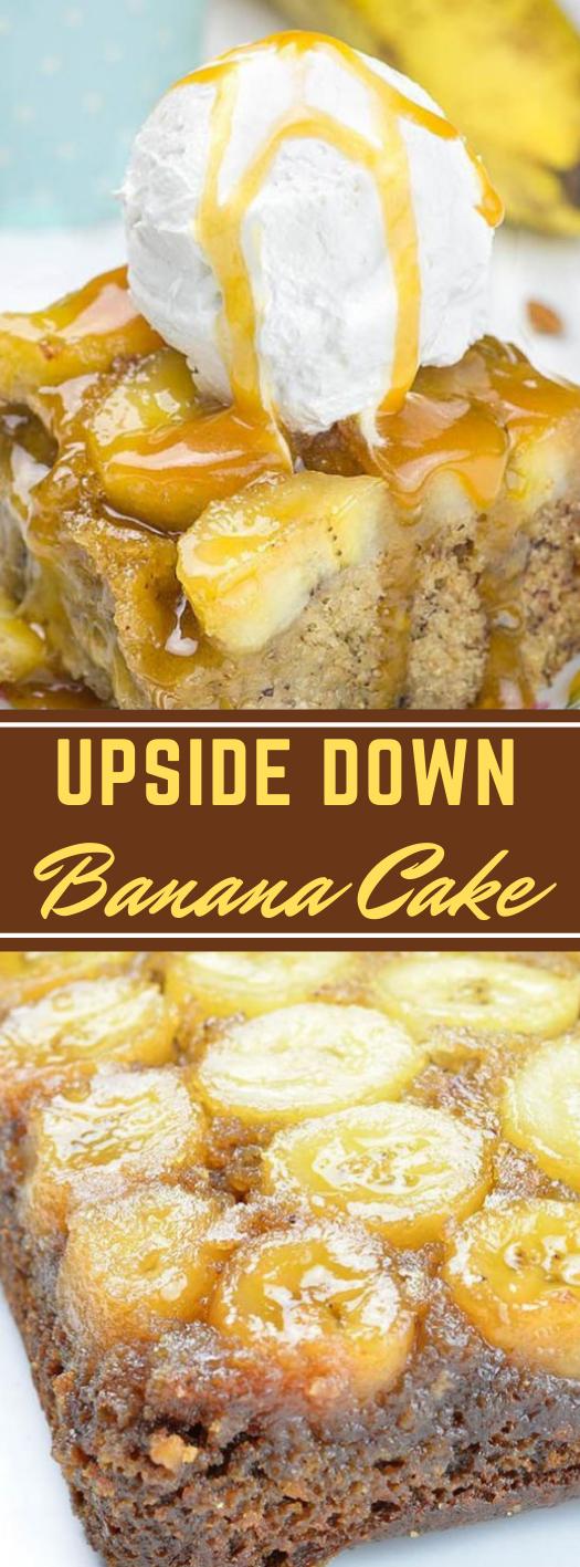 Banana Upside Down Cake #cake #banana #dessert #pie #pumpkin
