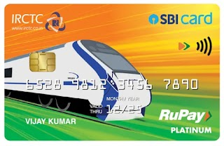 IRCTC SBI Card  will give 350 bonus rewards point on activation, which can be redeemed for train ticket booking, and also offers a 1% transa...