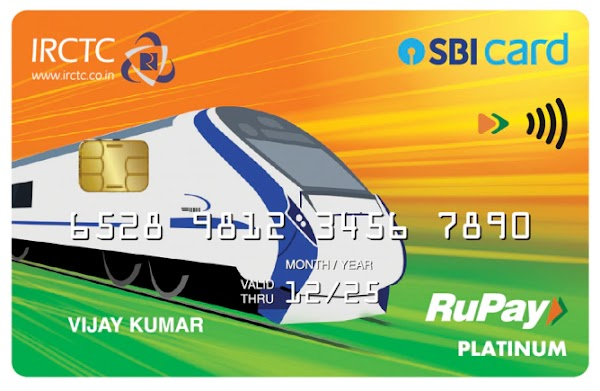 IRCTC SBI Card  will give 350 bonus rewards point on activation which can be redeemed for train ticket booking and also offers 1% transactio...
