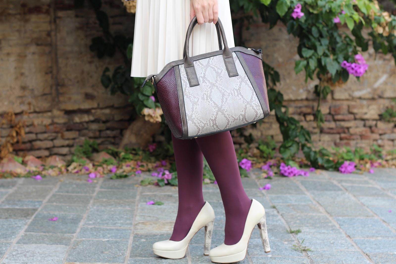 bijou brigitte bag animalier burgundy cream python pittarello heels scarpe shoes