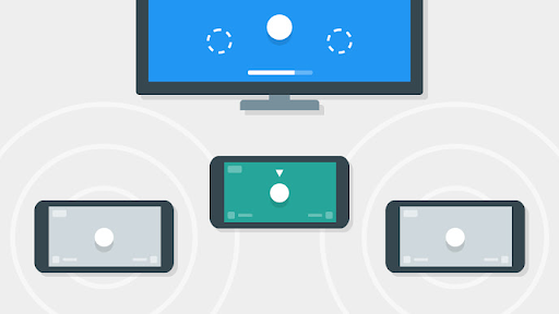 Hero image displaying phones and tvs communicating to each other