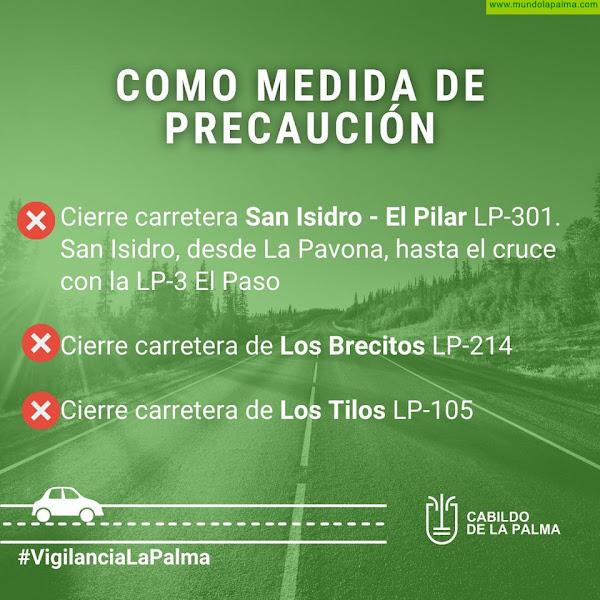 Cabildo de La Palma cierra varias vías como precaución