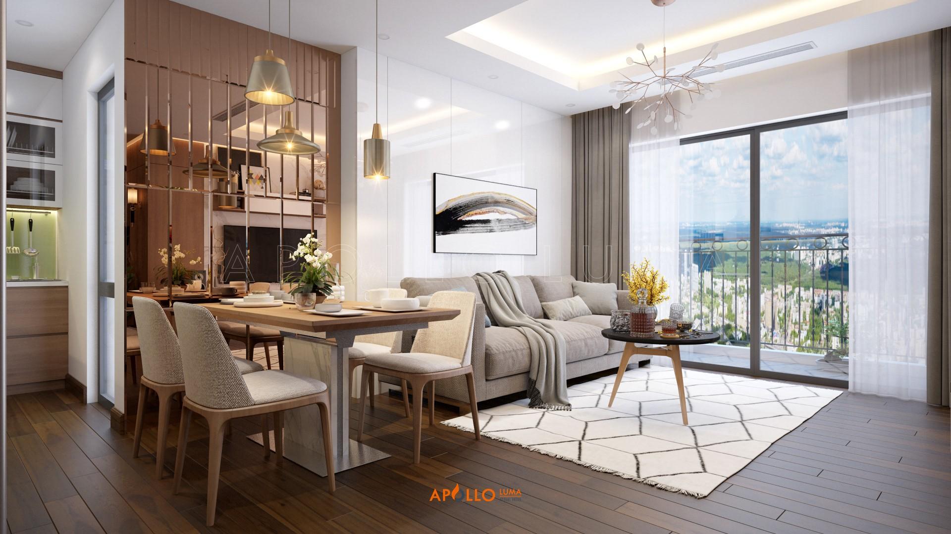 Thiết kế nội thất căn hộ 2 phòng ngủ (76m2) C3-05 D'.Capitale Trần Duy Hưng