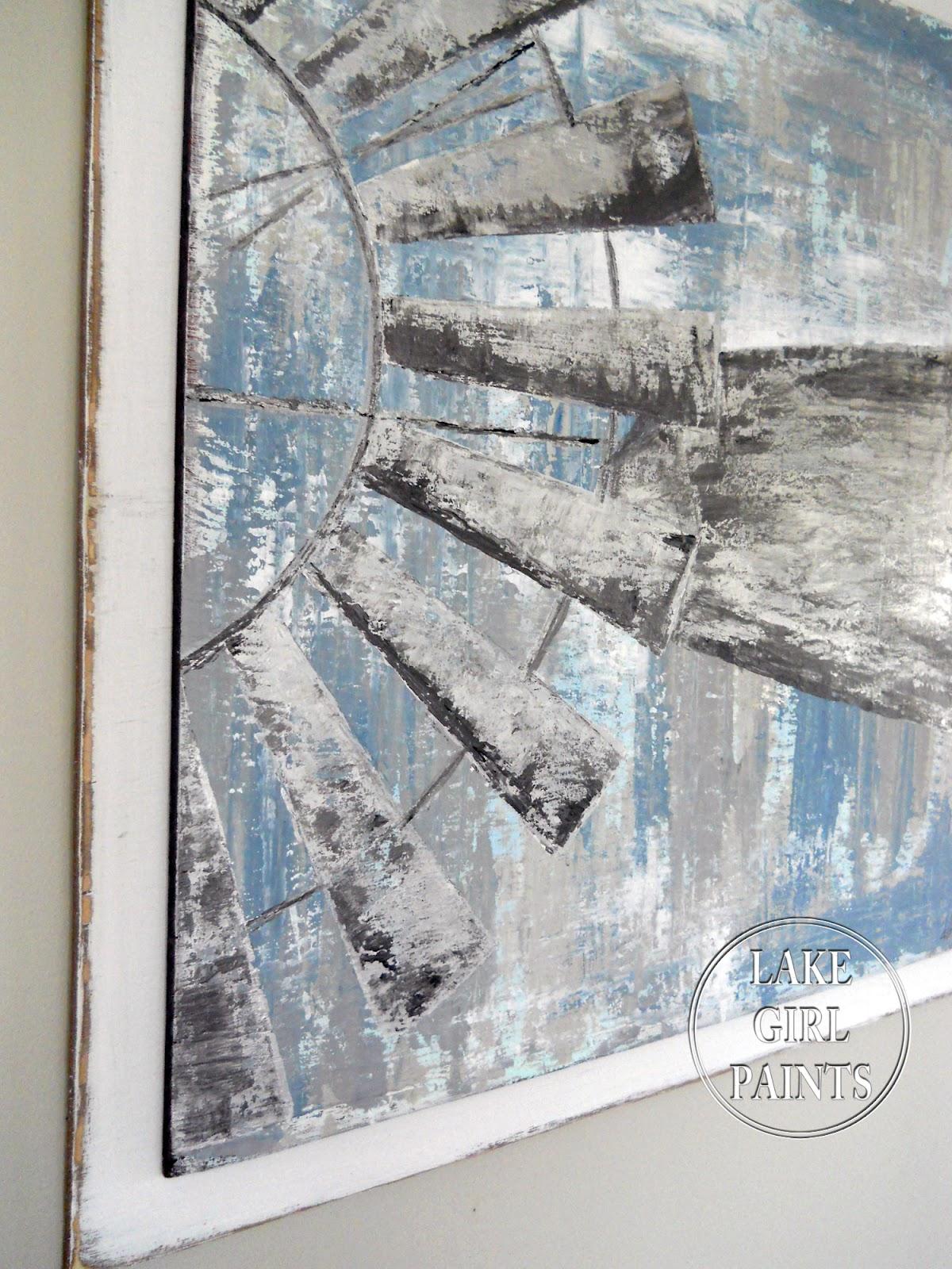 Lake Girl Paints Painting Windmill Art