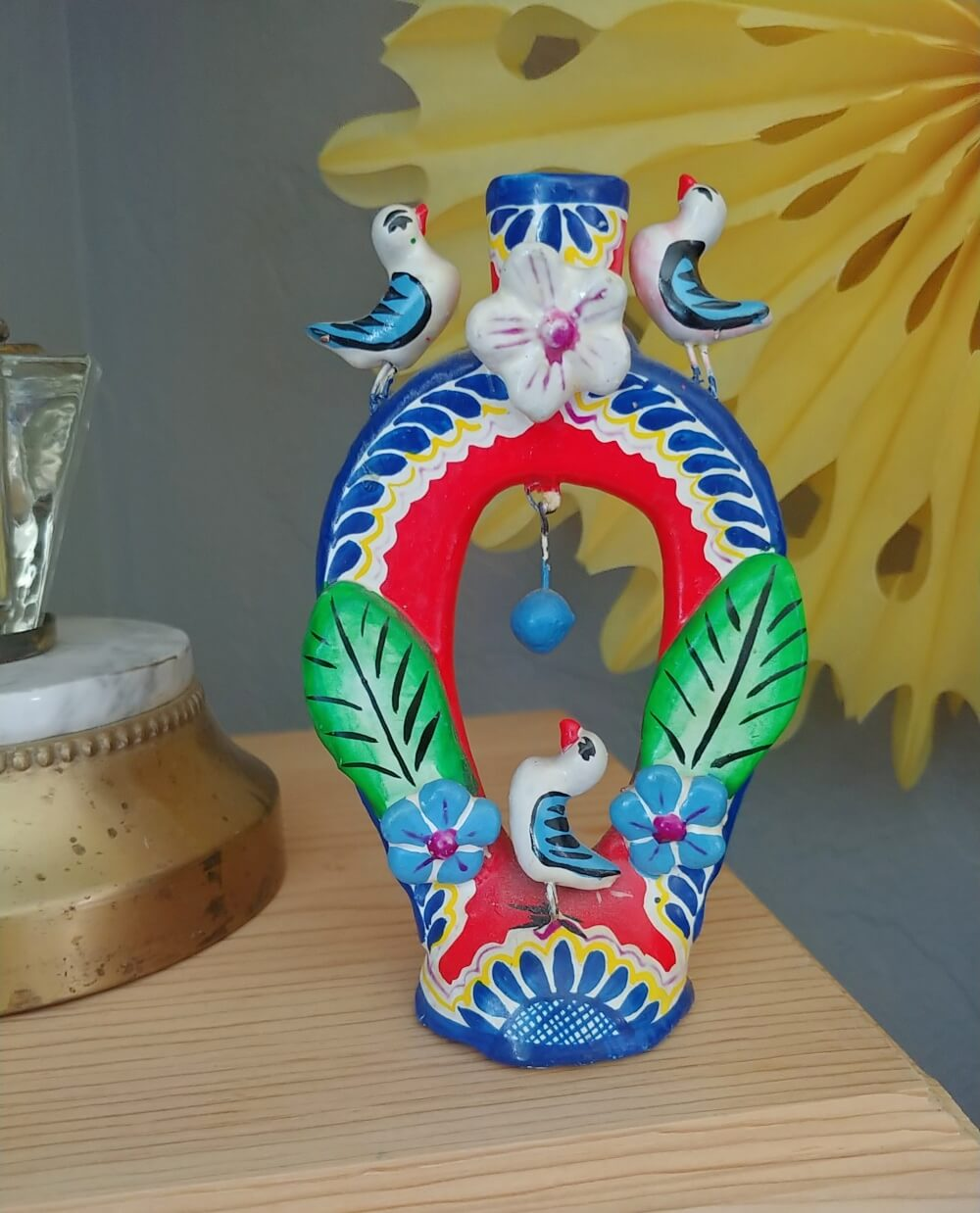 Mexican pottery candle holder