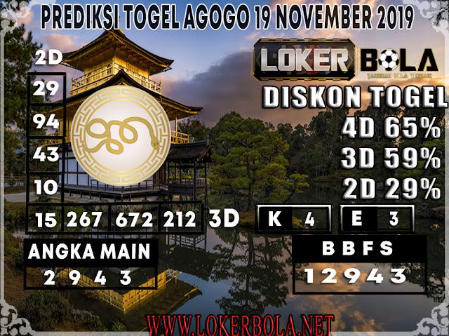PREDIKSI TOGEL AGOGO LOKERBOLA 19 NOVEMBER 2019