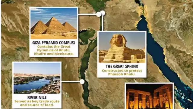 Giza Pyramids location