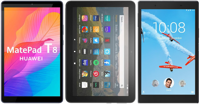 Huawei MatePad T8 vs Fire HD 8 (2020) vs Lenovo Tab 4 8