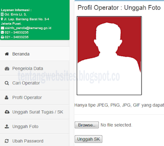 Cara Upload Photo Profil Akun Operator
