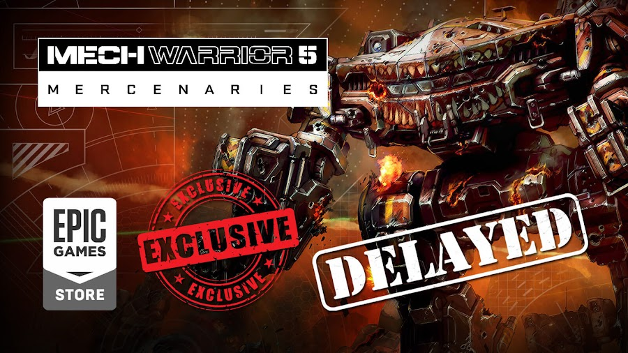 mechwarrior 5 mercenaries delayed december 2019 epic games store exclusive piranha games