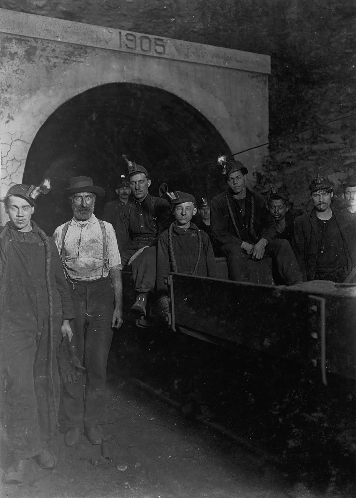 At the entrance to a West Virginia mine. 1908.
