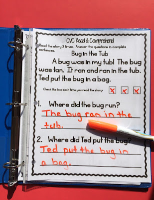 Building fluency with short vowel paragraphs