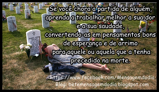 """MARCUS SILVA: A MENSAGEM DO DIA """"A DOR DA PERDA"""""""
